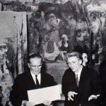 Josip Broz Tito u posjeti Mujezinovićevom ateljeu, Tuzla 1966