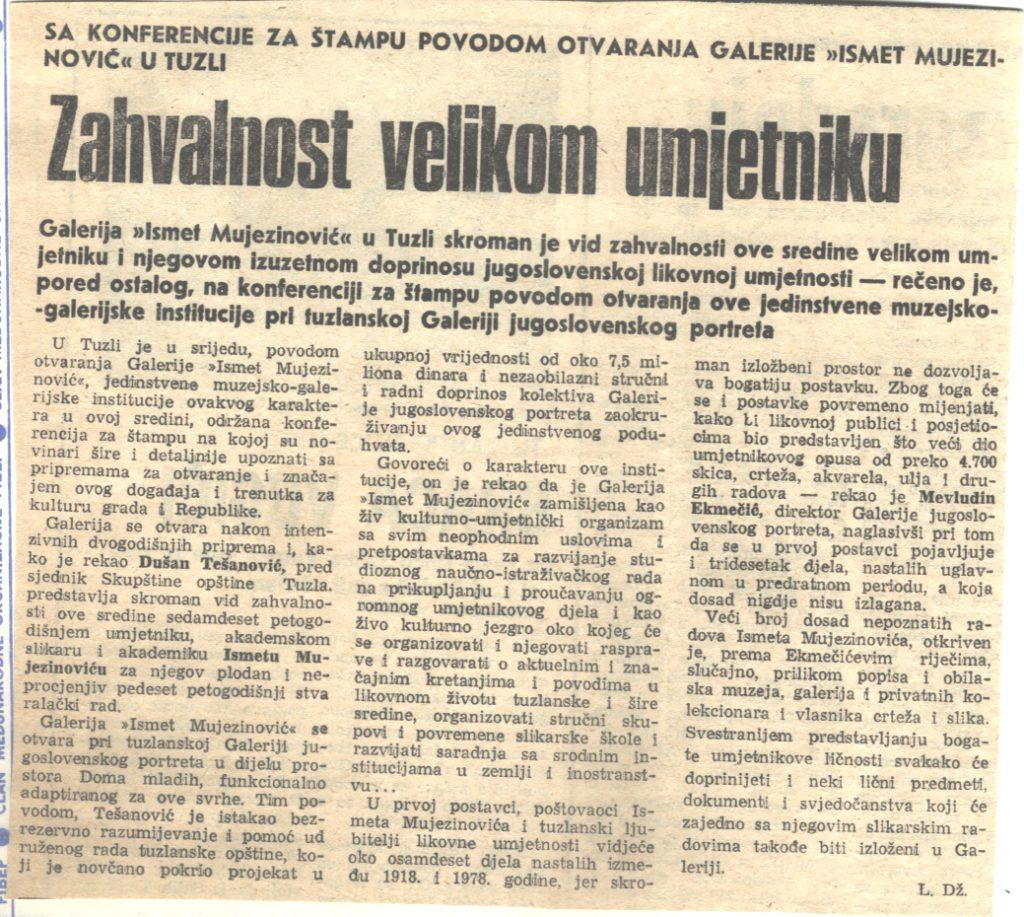 Front Slobode, Tuzla 03. 12. 1982. - Ismet rođendan 3