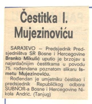 Vecernji list Zagreb 02 12 1982 - Ismet rođendan 2